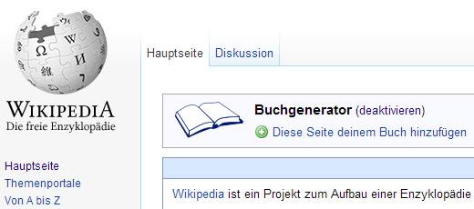 Wikipedia E-Books erstellen