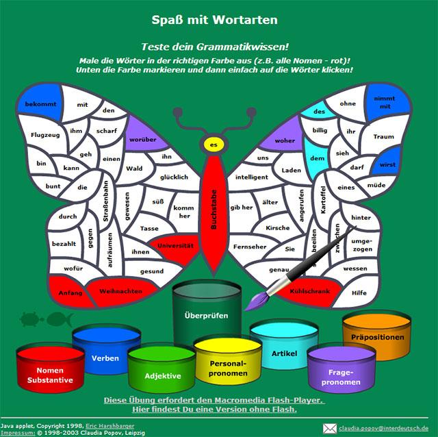 Wortarten-Ausmalbilder