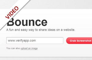 Bounce – Notizen auf Webseiten