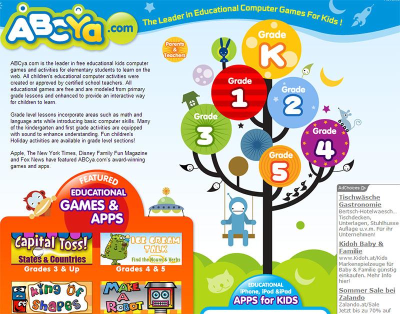 ABCya – Lernspiele