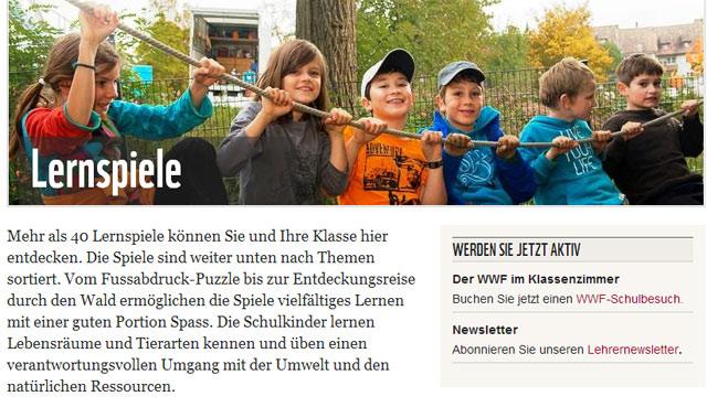 Lernspiele des WWF Schweiz