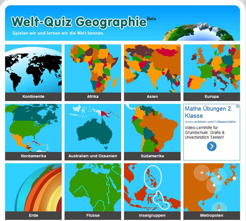 Welt-Quiz Geographie