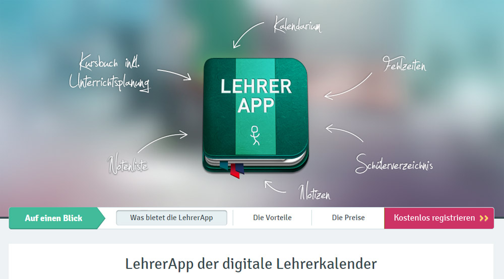Lehrerapp – Der digitale Lehrerkalender