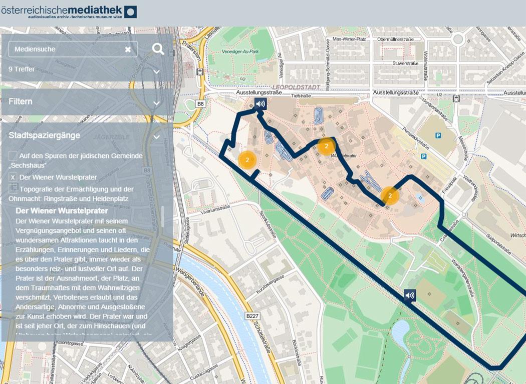 Wiener Stadtplan zum Anhören